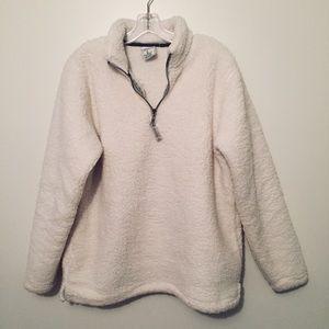 J. America Sherpa quarter zip pullover sweater